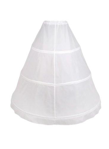 Flora 3 Hoop Bridal Wedding Petticoat/Prom Underskirt,Size XS-XXL (weir) (Voll Petticoat Bridal)