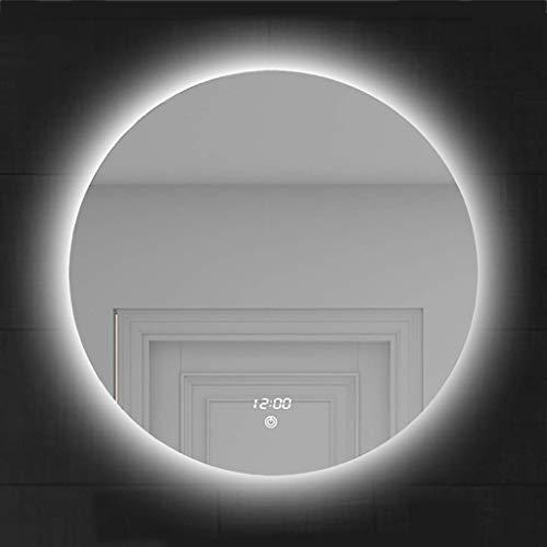 SDK Espejo de baño Inteligente con desempañador Luz LED cálida y fría Ajustable - Interruptor táctil Redondo sin Marco -...