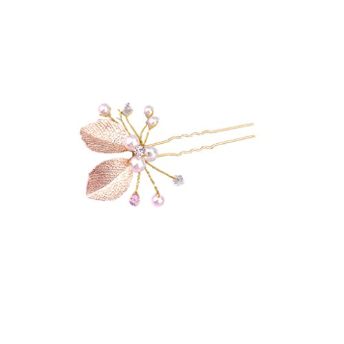 1pcs Horquilla de Cabello Pasador Clip de Pelo Nupcial Diamantes de Imitación