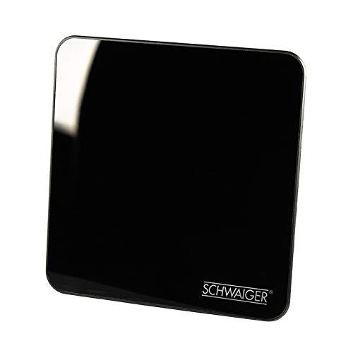 SCHWAIGER -20372- DVBT-2 Antenne innen mit Verstärker / aktive Zimmerantenne für max. Signalstärke / integ. LTE-Sperrfilter / für DVB-T DAB+ & UKW Empfang / Anschluss an DVBT-2 Receiver und Fernserher