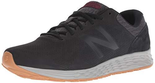 New Balance Men's Arishi V1 Fresh Foam Running Shoe, Black/Magnet/Nubuck Burgundy, 7 D US