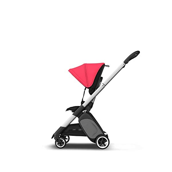 Bugaboo Ant, Lightweight Travel Pushchair with Compact Fold, Converts Into Pram, Black/Neon Red Bugaboo Suitable from birth to toddler Car seat compatible Lightweight and easy to carry 1