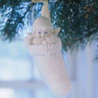 Snowbabies Figurine Dept 56A Baby in my Chaussette de décoration