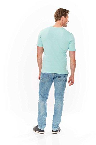 8d666ccb90c0 Kitaro T Shirt Herren Kurzarm Plusgröße Übergröße Hellgruen -grafer.eu