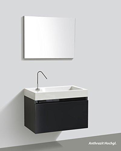Badmöbelset mit Spiegel – Manhattan 80 cm - 8