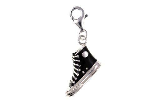 Moschettone in argento Sterling 925 a forma di scarpa da Baseball, per scarpe da ginnastica (Baseball Gioielleria)