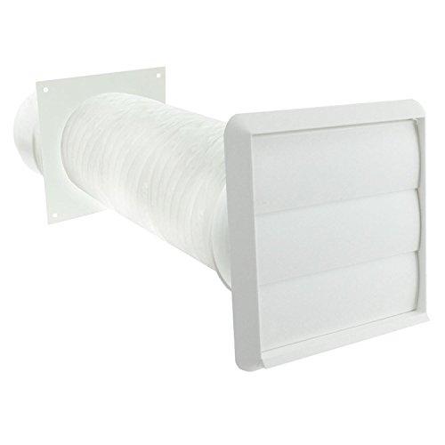 Invero® Dunstabzugshaube Vent Kit 100mm Durchmesser (10,2cm Zoll) enthält Schlauch Schlauchverbinder, Steckdose und Insekten Klappen -