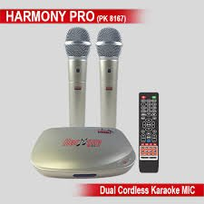 Persang Karaoke Harmony Pro PK-8167 with 7145 Songs updated till 2017 and Two Wireless Mics + Mic Stand Free