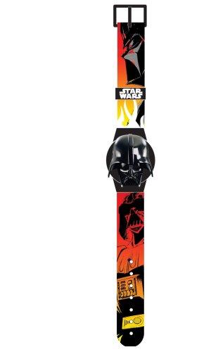 Star Wars - Clone Wars 23236 - Reloj digital infantil de cuarzo con correa de plástico multicolor