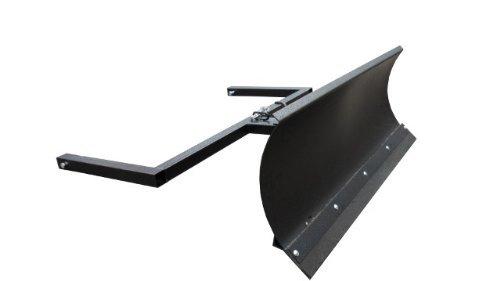 Preisvergleich Produktbild Schneeschild für Aufsitzmäher / Stahl Gewalzt / 150 cm breit / 40 cm hoch / Schwarz / Schwenkbares Schild / Wechselbare Gummischürfleiste / Stiga Villa Park