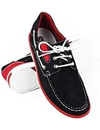 Zerimar Zapato para caballeros naútico de piel con suela de goma flexible 100 % piel de primera calidad Diseño marcando moda Forro interior en piel