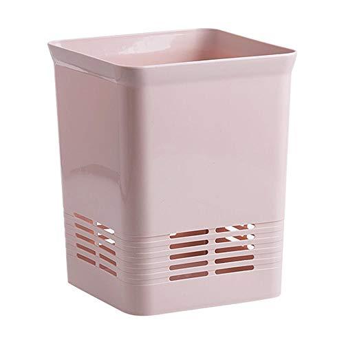 er Badezimmer Square Papierkorb Küche ohne Deckel Garbage Schlafzimmer Wohnzimmer Schlafzimmer rosa Kunststoff Papierkorb ()