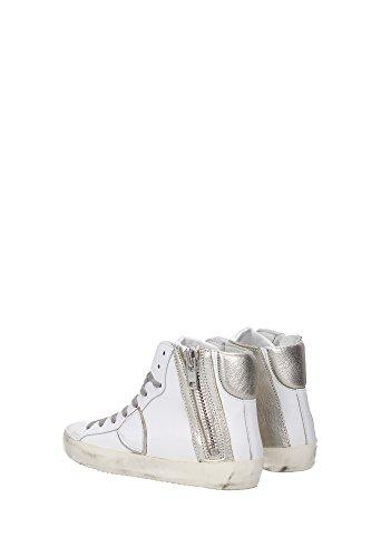 BIHDVU12 Philippe Model Sneakers Femme Cuir Blanc Blanc