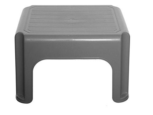 Whitefurze H23212–Taburete de plástico, 40cm), color plateado