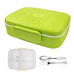 BRIGENIUS Bento Box Auslaufsichere Brotzeitbox Fünf Separate Kammern Lunchbox für Kinder Halten Essen Frisch Brotdose für Kindergarten Schule Grundschulkinder Frühstücksbox