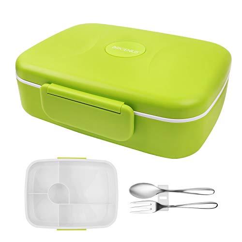BRIGENIUS Bento Box Auslaufsichere Brotzeitbox Brotdose für Kinder Lunchbox für Kindergarten Schule Grundschulkinder Frühstücksbox