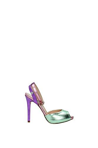 Sandali Love Moschino Donna PVC Verde, Viola, Rosa e Argento JA1610BC01JG180A Verde 38EU