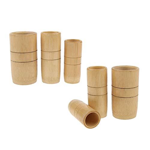 Bambus, Bein, Brust (Baoblaze 6 Stück Bambus Schröpfen Schröpfgläser Cupping Vakuummassage Set für Körper Aktivierung des Kreislaufs)