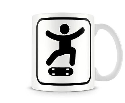 SPRT_018 Sport Mugs, Skateboarding - Kick-flip - humorous gift funny custom personalised printed