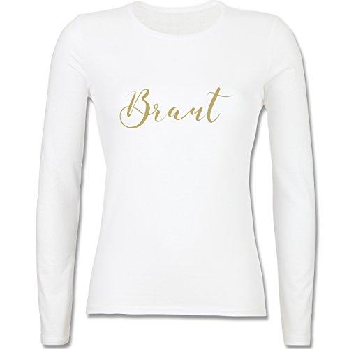 JGA Junggesellinnenabschied - Braut - JGA Handlettering - tailliertes  Longsleeve / langärmeliges T-Shirt für