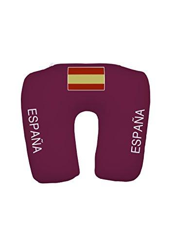 travelstar TS-F-1001 2-in-1 EM Fanartikel Trikot-Nackenkissen Spanien, Football-Shirt Neck Pillow Spain