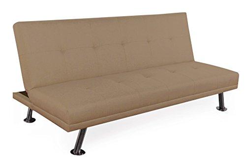 Galileo casa home divano letto pieghevole, tessuto, marrone chiaro, 180x38x105 cm