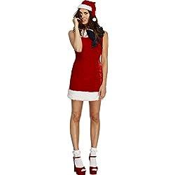 Smiffy's - Disfraz Fiebre: señorita de Santa Cutie, color rojo (43508L)