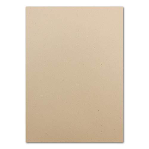 o-Papier mit Lederanteil - 120 g/m² - Sandfarben -100% Recycle-kompostierbar - FSC Zertifiziert - UPCYCLING - Glüxx-Agent ()