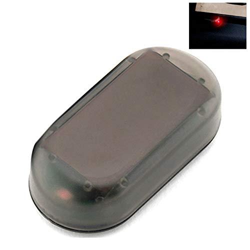 BKWL Strobe Signal Système de Sécurité Flash Universel Avertissement Led Lumière Alarme Lampe De Voiture Simulation D'alimentation Solaire Faux Anti-vol Attention Rouge