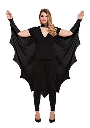 Emmas Wardrobe Erwachsene Fledermausflügel Cape - Schwarz Cape für Ihre Halloween-Party (Bat Cape)