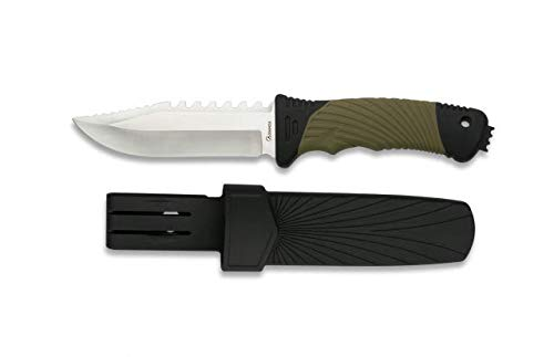 Cuchillo Supervivencia Hoja 12 cm para Caza, Pesca, Camping, Outdoor,