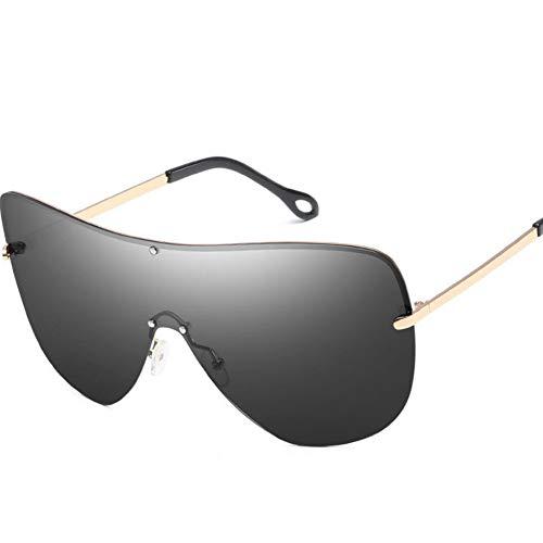 Rjjdd Übergroße Männer Polarisierte Gesicht Sonnenbrille Frauen 2017 Randlose Sonnenschirme Große Brille Erklärung Lentes De Sol Hombre Sonnenbrille