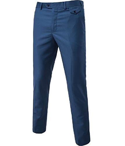 CuteRose Men Trim-Fit Wrinkle-Free Classic-Fit Stretchy Casual Chino Pants AS2 XS Free Flat Front Pant