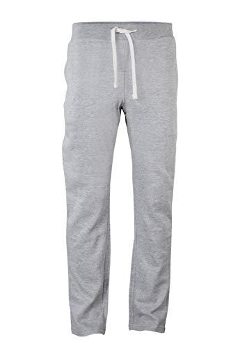 VBRANDED Herren Heavyweight Core Fleece Casual Open Bottom Pants Grau S 20 Fleece Open Bottom Pants