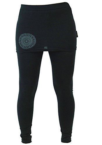 Guru-Shop Yoga-Hose Bio-BW Yogi, Damen, Schwarz, Synthetisch, Size:S (36), Shorts, 3/4 Hosen, Leggings Alternative Bekleidung - Bio Yoga Hose