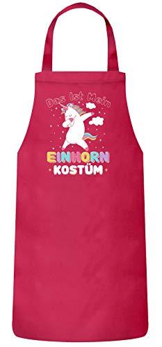 lustige Karneval Gruppen Paar Verkleidung Frauen Herren Barbecue Baumwoll Grillschürze Kochschürze Fasching - Dab Einhorn Kostüm, Größe: onesize,Pink