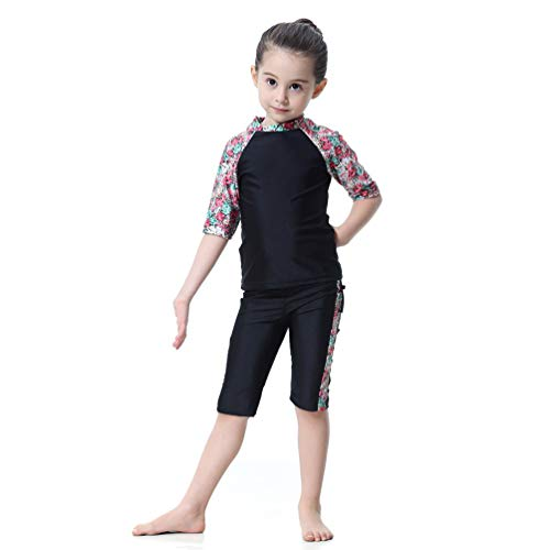 Bambini Costume da Bagno Ragazzi Maniche Lunghe Nuoto Abbigliamento Protezione Solare UV