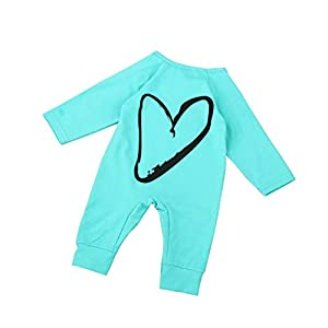 Deloito Baby Kids Boy Girl Infant Romper Pyjamas Jumpsuit Bodysuit Cotton Clothes Newborn Kids Baby Boys Girls Printing Bodysuits One Piece Outfits Clothes