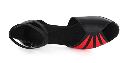 Minitoo , Damen Tanzschuhe schwarz/red
