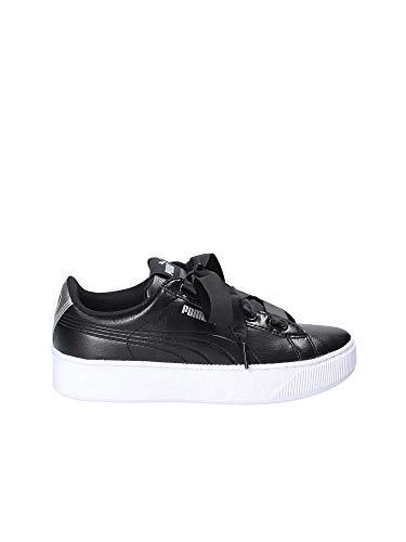 Puma Sneakers Vikky Platform Ribbon SL Metal Nero Bianco Argento 367816-02 (38.5 - Nero)