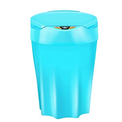 LIUFS Mülltonnen Kunststoff-Induktion Trash Home Convenience Space Saver Blau (Farbe : Blue) (Space Saver Papierkorb)