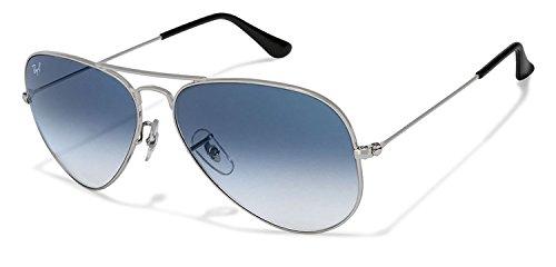 Gradient Aviator Men's Sunglasses (RB3025I 0025|55 millimeters|blue lens)