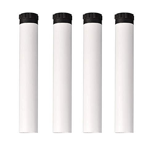 Furniture legs HXLQ EIN Satz Von Vier MöBelfüßE, Zylindrischen Verstellbares Bett BeinstüTzfüßE, Metall Bettfuß ZubehöR (Weiß, Schwarz) - Mit Schrauben -
