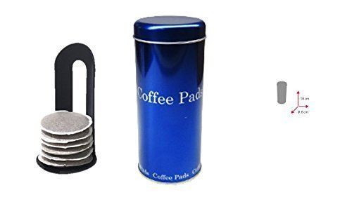 Kaffeepad-Dose blau mit Padlifter