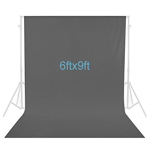 Neewer 6 x 9 Fuß / 1,8 x 2,8 Meter Fotografie Hintergrund Foto Video Studio Stoff Kulisse Hintergrund Bildschirm (grau)