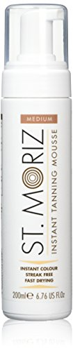 St. Moriz Self Tanning Mousse Medium, 1er Pack (1 x 200 ml) (Mousse Self Tanning Instant)