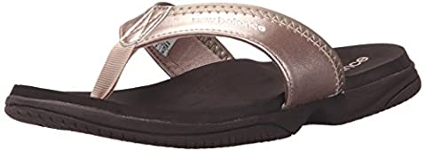 New Balance Women's Jojo Thong Sandal, Rose Gold, 6 B