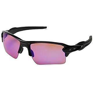 Oakley Herren Sonnenbrille Flak 2.0 XL Schwarz (Polished Black/Prizmtrail) 59