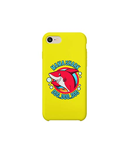 GlamourLab Mommy Shark DOO DOO Popular Song Lyrics_R6080 Protective Case Cover Hard Plastic Compatible with for iPhone 6 Plus Funny Gift Christmas Birthday Novelty