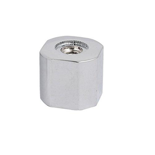 sourcingmap 28mmx25mm Zinklegierung Wasserhahn Griff Knopf Einhebelgriffknopf Silberton (Weiß Wasserhahn Griff Ersatz)